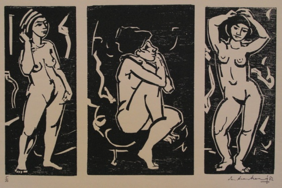 "<h4 style=""margin:0px 0px 5px 0px"">(Triptych)</h4>Medium: Woodcut<br />Price: $750 