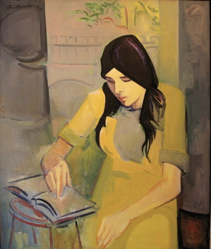 "<h4 style=""margin:0px 0px 5px 0px;"">Woman reading</h4>Medium: Oil on canvas<br />Price: Sold <span style=""color:#aaa"">
