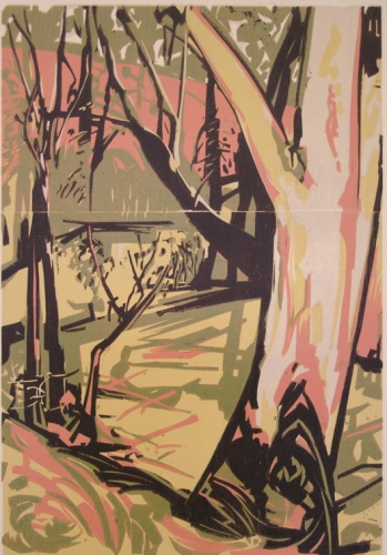 "Wooded creek<br /><br />Medium: Woodcut<br />Price: $1,000<br /><a href=""Artwork-Armstrong-Woodedcreek-1597.htm"">View full artwork details</a>"