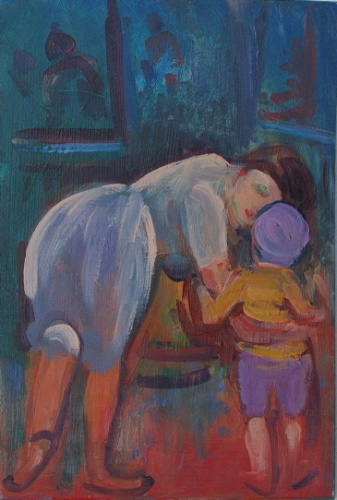 "<h4 style=""margin:0px 0px 5px 0px"">Mother with child by Ian Armstrong</h4>Medium: Oil on board<br />Price: Sold<span class=""helptip"" style=""color:#ff0000;"" title=""This artwork been sold""><img src=""/images/reddot1.gif"" border=""0"" height=""10"" /></span> 