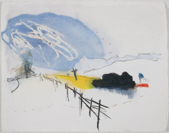 "Buckland Fires<br /><br />Medium: Pencil and Watercolour on paper<br />Price: Sold<br /><a href=""Artwork-Barrett-BucklandFires-2918.htm"">View full artwork details</a>"