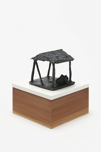 "Empty Hayshed<br /><br />Medium: Bronze on timber plinth<br />Price: Sold<br /><a href=""Artwork-Barrett-EmptyHayshed-2905.htm"">View full artwork details</a>"