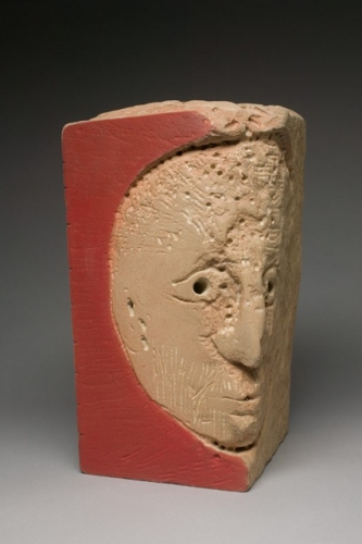 "Head ( Side a)<br /><br />Medium: Sandstone<br />Price: $ Price On Application<br /><a href=""Artwork-Barrett-HeadSidea-2909.htm"">View full artwork details</a>"