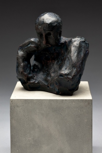 "Man Thinking<br /><br />Medium: Patinated Terracotta<br />Price: $ Price On Application<br /><a href=""Artwork-Barrett-ManThinking-2911.htm"">View full artwork details</a>"
