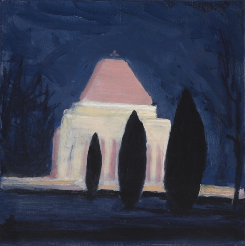 "<h4 style=""margin:0px 0px 5px 0px"">Shrine at Night</h4>Medium: Oil on linen, Framed<br />Price: $1,800 