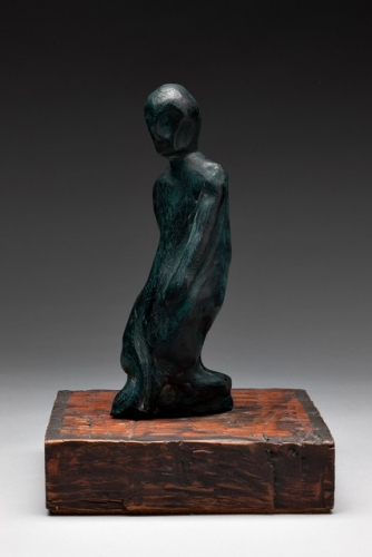 "Walking Figure<br /><br />Medium: Patinated Terracotta on timber plinth<br />Price: $ Price On Application<br /><a href=""Artwork-Barrett-WalkingFigure-2912.htm"">View full artwork details</a>"