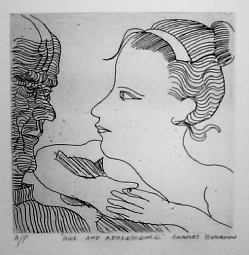 "<h4 style=""margin:0px 0px 5px 0px;"">Age & adolescence</h4>Medium: Etching<br />Price: $1,100 <span style=""color:#aaa"">