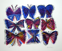 "Alices Book of Butterflies<br /><br />Medium: Screenprint<br />Price: Currently Unavailable<br /><a href=""Artwork-Blackman-AlicesBookofButterflies-1288.htm"">View full artwork details</a>"
