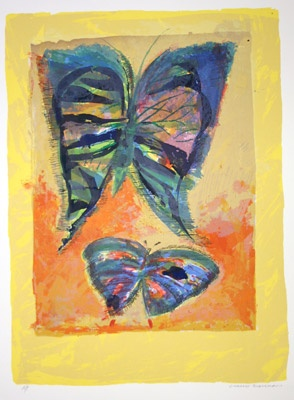 "<h4 style=""margin:0px 0px 5px 0px;"">Butterfly (A/P)</h4>Medium: Screen Print<br />Price: $2,500 <span style=""color:#aaa"">