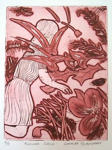 "<h4 style=""margin:0px 0px 5px 0px;"">Flower Child</h4>Medium: Etching<br />Price: $1,100 <span style=""color:#aaa"">