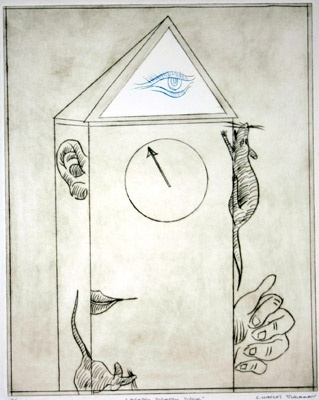 Hickory Dickory Dock by Charles Blackman