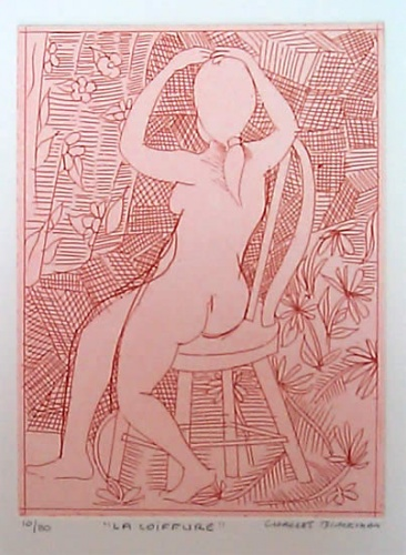 "<h4 style=""margin:0px 0px 5px 0px;"">La Coiffure</h4>Medium: Etching<br />Price: $1,200 <span style=""color:#aaa"">