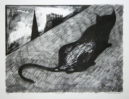 "<h4 style=""margin:0px 0px 5px 0px"">Night Cat</h4>Medium: Lithograph<br />Price: $5,000 