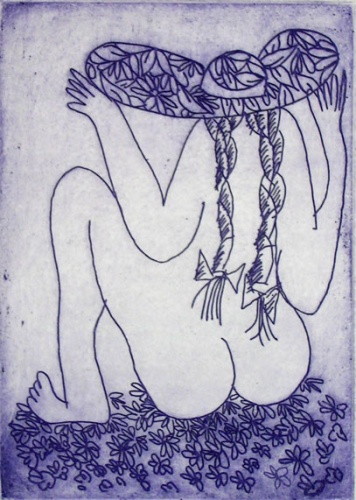 "Song (A/P)<br /><br />Medium: Etching<br />Price: $880<br /><a href=""Artwork-Blackman-SongAP-812.htm"">View full artwork details</a>"