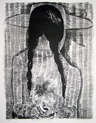 "The Girl With Dark Plaits<br /><br />Medium: Lithograph<br />Price: $5,000<br /><a href=""Artwork-Blackman-TheGirlWithDarkPlaits-60.htm"">View full artwork details</a>"