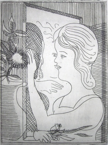 "<h4 style=""margin:0px 0px 5px 0px"">The Mirror (Reflection)</h4>Medium: Etching<br />Price: $1,200 