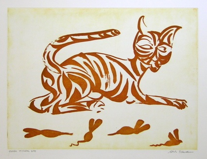 "<h4 style=""margin:0px 0px 5px 0px;"">Tiger Tiger  Gold</h4>Medium: Etching<br />Price: $2,000 <span style=""color:#aaa"">