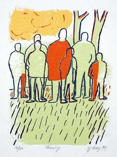 "Family<br /><br />Medium: Screenprint<br />Price: $380<br /><a href=""Artwork-Boag-Family-673.htm"">View full artwork details</a>"