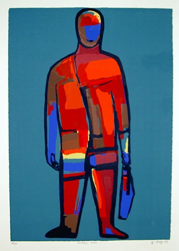 "<h4 style=""margin:0px 0px 5px 0px"">Korean Man</h4>Medium: Screenprint<br />Price: $850 