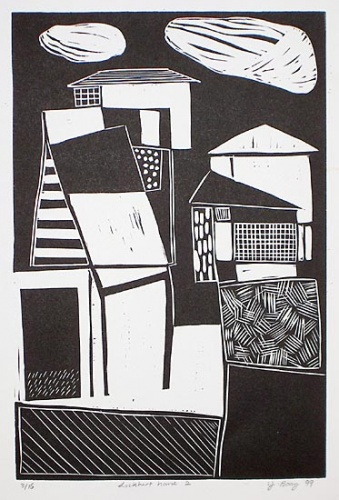 "Lockhart House 2<br /><br />Medium: Linocut<br />Price: Currently Unavailable<br /><a href=""Artwork-Boag-LockhartHouse2-676.htm"">View full artwork details</a>"