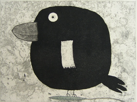 "<h4 style=""margin:0px 0px 5px 0px"">Balancing bird</h4>Medium: Etching<br />Price: Sold 