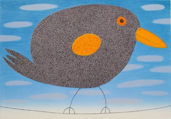 "Balancing black bird<br /><br />Medium: Lithograph<br />Price: $1,200<br /><a href=""Artwork-Bowen-Balancingblackbird-2060.htm"">View full artwork details</a>"
