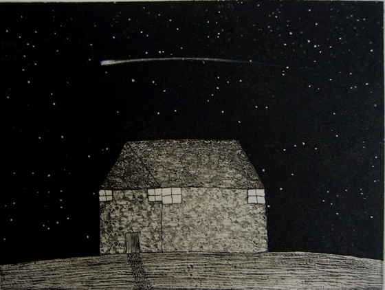 "<h4 style=""margin:0px 0px 5px 0px"">Comet</h4>Medium: Etching<br />Price: Sold 