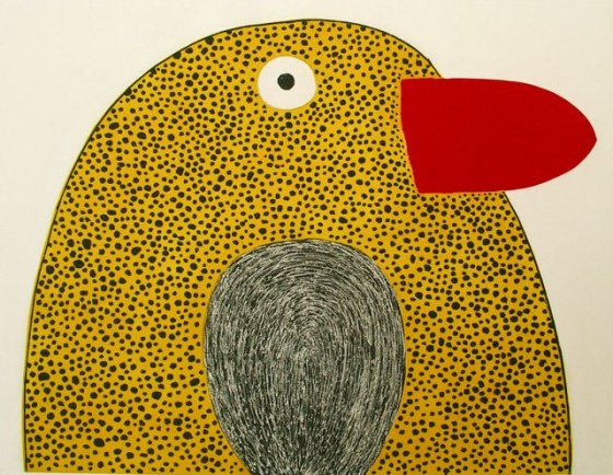 "<h4 style=""margin:0px 0px 5px 0px;"">Giant yellow budgie</h4>Medium: Etching<br />Price: Sold <span style=""color:#aaa"">