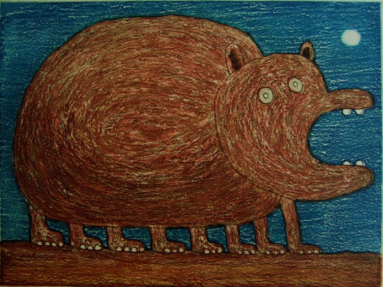 "<h4 style=""margin:0px 0px 5px 0px"">Octopotamus</h4>Medium: Etching<br />Price: $385 