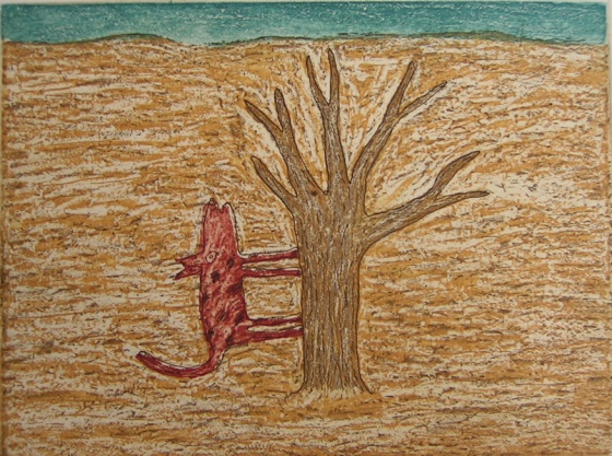"<h4 style=""margin:0px 0px 5px 0px"">Tree dog</h4>Medium: Etching<br />Price: $385 