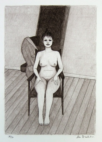 "Nude 5 (chair)<br /><br />Medium: Lithograph<br />Price: $ Price On Application<br /><a href=""Artwork-Brack-Nude5chair-1201.htm"">View full artwork details</a>"
