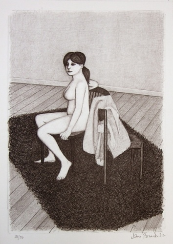 Nude 6 (chair/profile) by John Brack