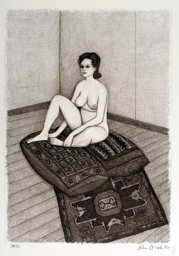 "Nude 7 (sitting/cushion)<br /><br />Medium: Lithograph<br />Price: Currently Unavailable<br /><a href=""Artwork-Brack-Nude7sittingcushion-1203.htm"">View full artwork details</a>"