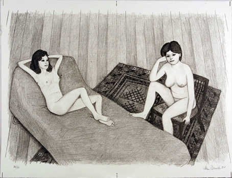 "Two Nudes #2 (bed)<br /><br />Medium: Lithograph<br />Price: $ Price On Application<br /><a href=""Artwork-Brack-TwoNudes2bed-1198.htm"">View full artwork details</a>"