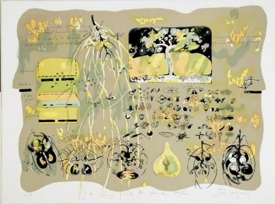 "<h4 style=""margin:0px 0px 5px 0px"">John Wolseley - The Honey of the Hakea Tree</h4>Medium: Lithograph<br />Price: $1,900 