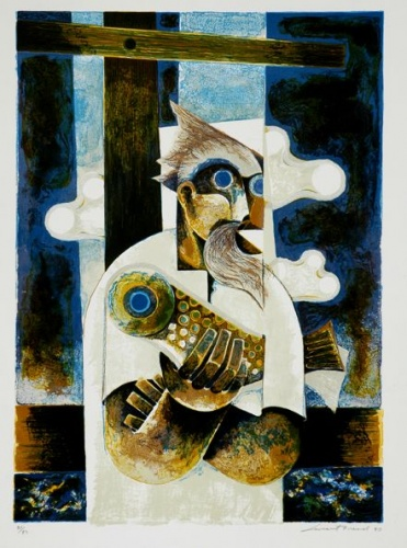 "<h4 style=""margin:0px 0px 5px 0px"">Leonard French - Fisherman</h4>Medium: Lithograph<br />Price: $770 