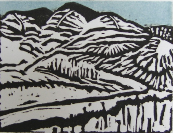 "<h4 style=""margin:0px 0px 5px 0px"">Burnt landscape</h4>Medium: Linocut<br />Price: $200 