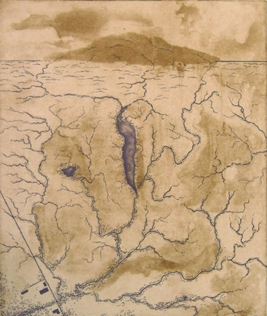 "Watershed<br /><br />Medium: Etching<br />Price: $420<br /><a href=""Artwork-ColeAdams-Watershed-1352.htm"">View full artwork details</a>"
