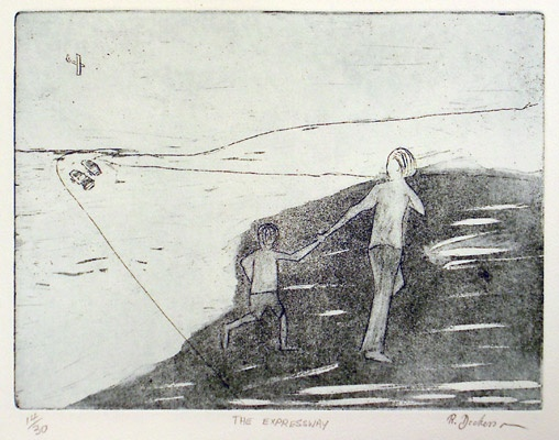 "<h4 style=""margin:0px 0px 5px 0px"">The Expressway</h4>Medium: Etching<br />Price: $1,100 