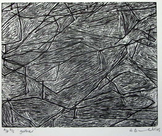 "<h4 style=""margin:0px 0px 5px 0px"">gather #1 by Andrew Gunnell</h4>Medium: Wood Engraving<br />Price: $300 