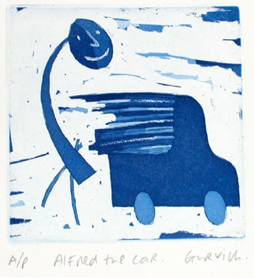 "<h4 style=""margin:0px 0px 5px 0px;"">Alfred the Car</h4>Medium: Etching<br />Price: $180 <span style=""color:#aaa"">
