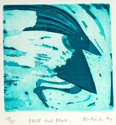 "Bert the Beak<br /><br />Medium: Etching<br />Price: $180<br /><a href=""Artwork-Gurvich-BerttheBeak-110.htm"">View full artwork details</a>"