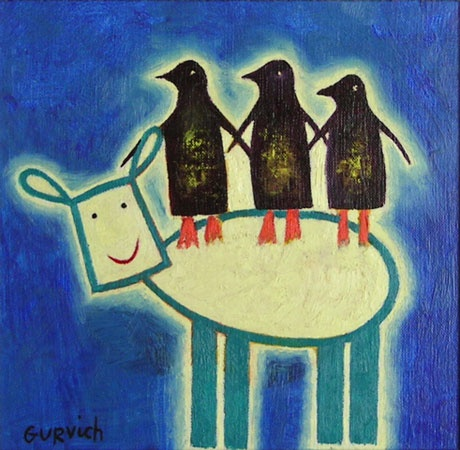 "Tea For Four<br /><br />Medium: Oil on board<br />Price: $800<br /><a href=""Artwork-Gurvich-TeaForFour-1359.htm"">View full artwork details</a>"