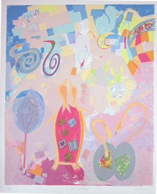 "The Parade<br /><br />Medium: Screenprint<br />Price: $900<br /><a href=""Artwork-Gurvich-TheParade-153.htm"">View full artwork details</a>"
