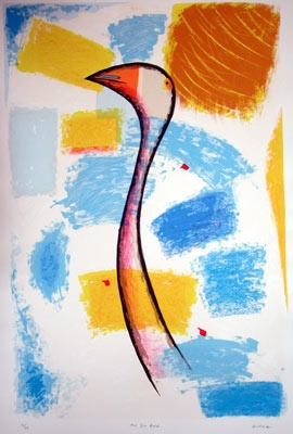 "The Sun Bird<br /><br />Medium: Screenprint<br />Price: $900<br /><a href=""Artwork-Gurvich-TheSunBird-155.htm"">View full artwork details</a>"