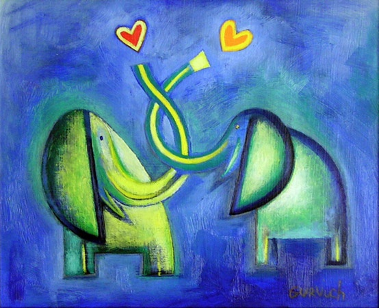 "True Love<br /><br />Medium: Oil on board<br />Price: $750<br /><a href=""Artwork-Gurvich-TrueLove-1362.htm"">View full artwork details</a>"