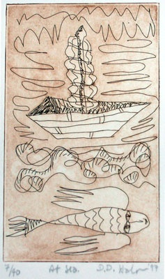 "At Sea<br /><br />Medium: Etching<br />Price: $360<br /><a href=""Artwork-Halpern-AtSea-162.htm"">View full artwork details</a>"