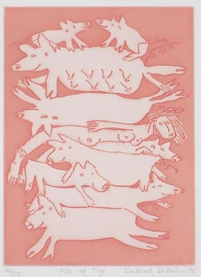 "<h4 style=""margin:0px 0px 5px 0px"">Pile of Pigs</h4>Medium: Etching<br />Price: $400 