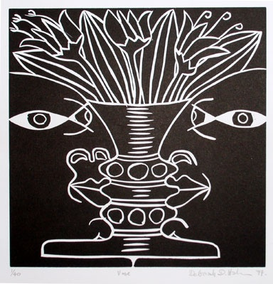 "<h4 style=""margin:0px 0px 5px 0px"">Vase</h4>Medium: Linocut<br />Price: $450 