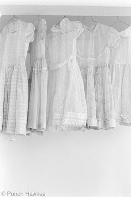 "<h4 style=""margin:0px 0px 5px 0px;"">(D) Organza party frocks</h4>Medium: silver gelatin print<br />Price: $500 <span style=""color:#aaa"">